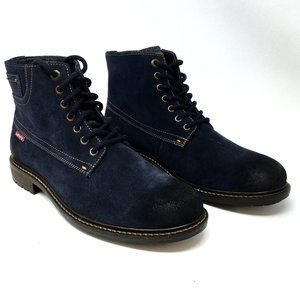 Levi's Men's Sheffield Navy Blue Suede Boots 8.5